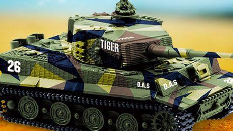 Mini tank Tiger na dálkové ovládání: dokonalá replika ve 2 barevných provedeních!