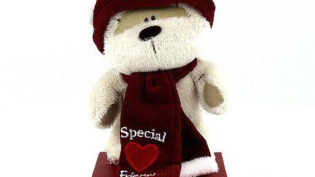 Special Friend - krásný plyšový stojící medvídek Fizzy Moon