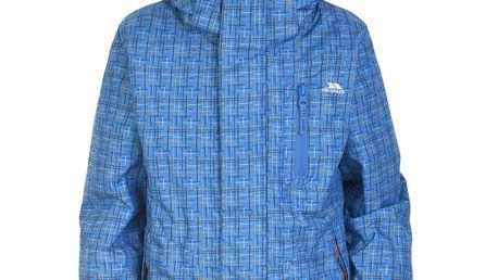 Modrá zimní bunda s potiskem