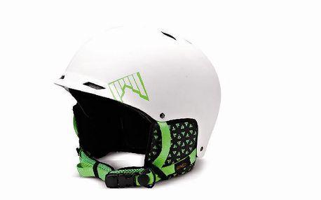 Skvělá freeridová helma řady Shred Half Brain Bucket D-Lux SQ-Air Bílá/Zelená
