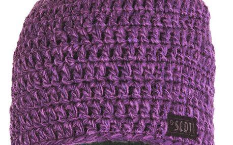 Stylová pletená čepice Slab blackberry purple/berry violet