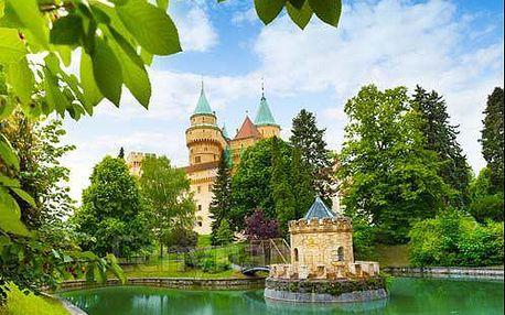 Celoroční pobyt v romantických Bojnicích. 3* hotel s polopenzí i wellness