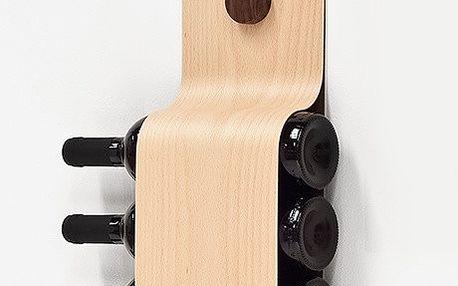 Minimalistický držák na vína Incurva Beech