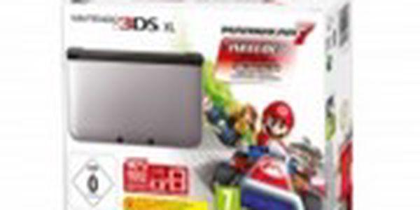 Herní konzole Nintendo 3DS XL Black + Silver + Mario Kart 7 3DS