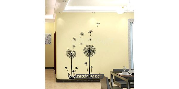 Samolepka na zeď v podobě pampelišky - ozdobte si své bydlení!