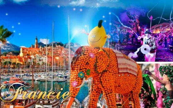 4denní autobusový zájezd do Francie s 1 noclehem! Slavnost světel v Nice a festival citrusů v Mentonu!