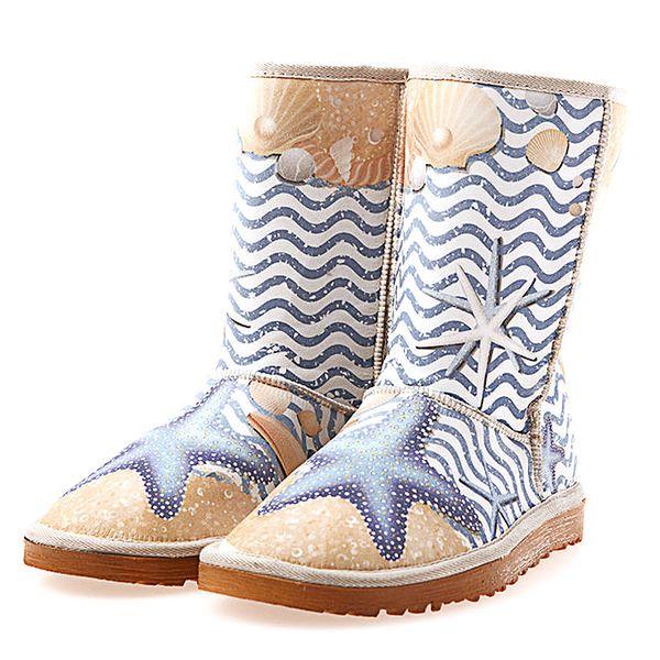 Dámské boty s plážovým potiskem Elite Goby