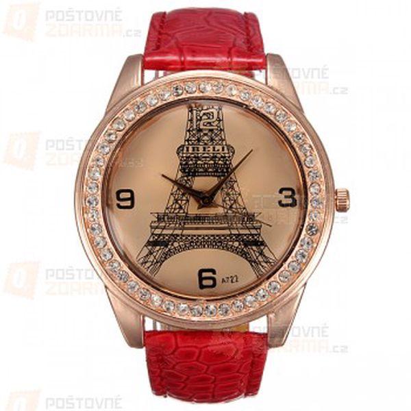 Dámské hodinky s Eiffelovkou a poštovné ZDARMA! - 9999903498