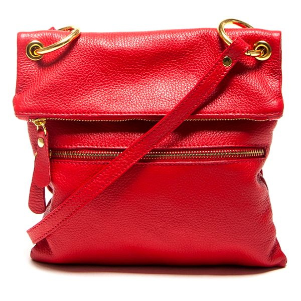 Dámská červená kabelka s popruhem Mangotti