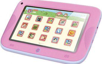"""7"""" dětský tablet Sencor Element 7 4Kids Pink pro jednoduché ovládání dětmi"""