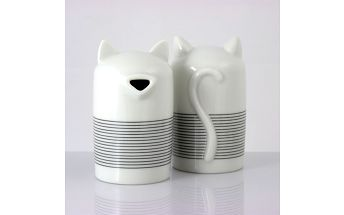 Cukřenka The Cat 10,5 cm, černobílá