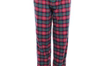 Dámské růžově kárované pyžamové kalhoty Tommy Hilfiger