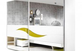Onella Šatní skříň, posuvné dveře se zrcadlem, š. 270 cm