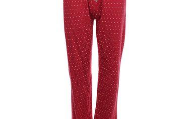 Dámské červené pyžamové kalhoty s bílými puntíky Tommy Hilfiger