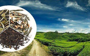 Sada 150g sypaných čajů v plechových dózách