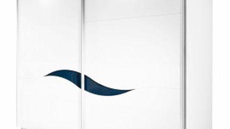 Šatní skříň Onella, posuvné dveře, š. 225 cm