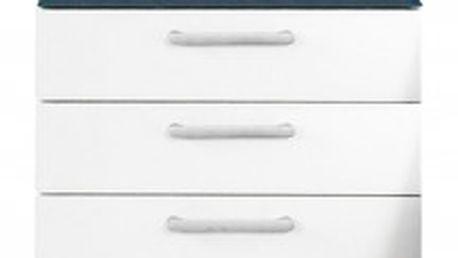Noční stolek Onella, 3x zásuvka, smontováno