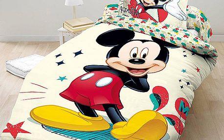 Dětské bavlněné povlečení Mickey Mouse, 140 x 200 cm, 70 x 90 cm