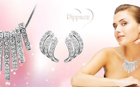 Náušnice a náhrdelník se Swarovski Elements