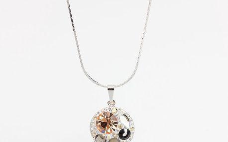Dámský náhrdelník s různě barevnými krystaly Laura Bruni