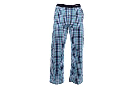 Pánské modré kárované pyžamové kalhoty Tommy Hilfiger