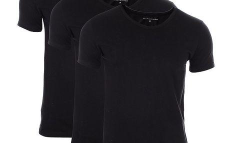 Set tří pánských černých triček Tommy Hilfiger