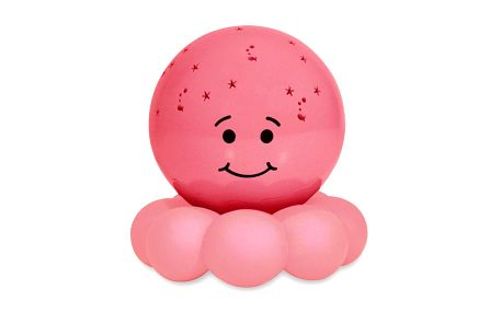 Zářící Chobotnička pro klidné spaní - růžová Teddies 29017451