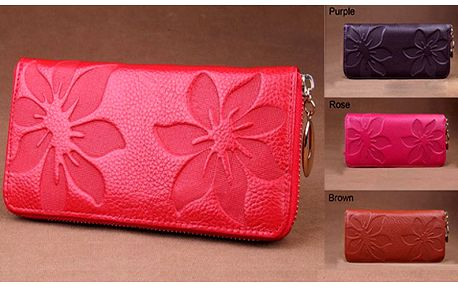 Dámská peněženka z pravé kůže v 6 módních barvách