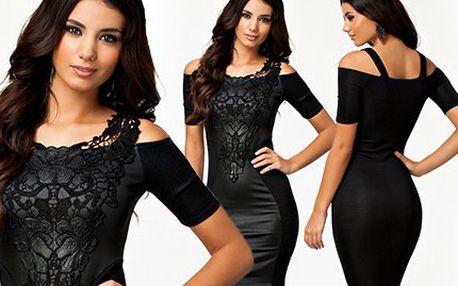 Elegantní šaty s rafinovanou krajkou