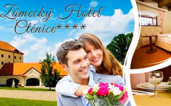 Zámecký pobyt vhotelu Ctěnice sromantickou 4chodovou večeří. 2 nebo 3 dny!
