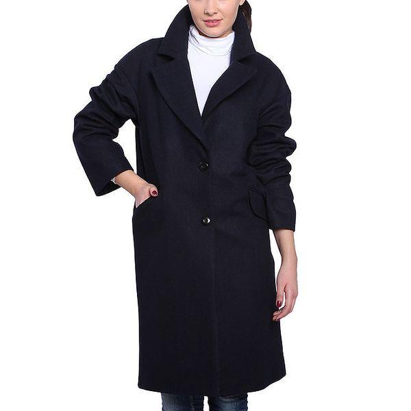Dámský tmavomodrý oversized kabát Vera Ravenna