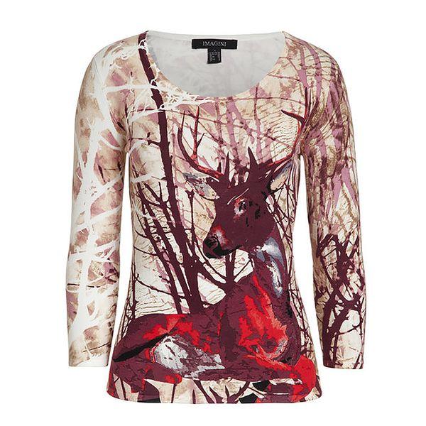 Dámský svetřík s barevným jelenem Imagini