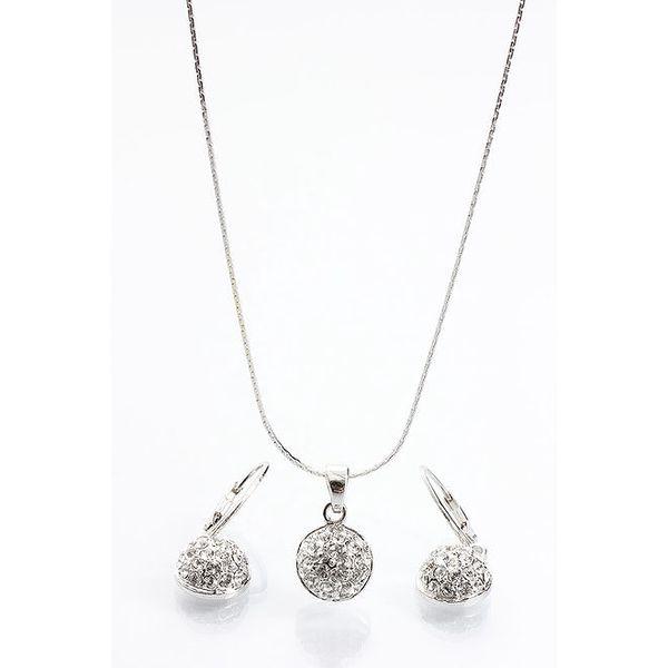Dámský set - kulaté náušnice a náhrdelník Laura Bruni