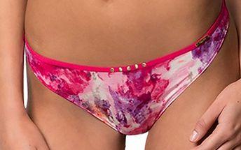 Dámské růžové kalhotky s potiskem - tanga Sapph