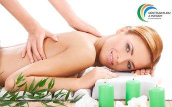 Klasická 60minutová relaxační masáž s prvky reflexní terapie v Plzni