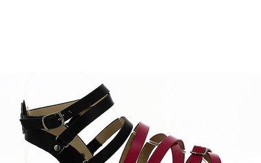 Dámské černo-fuchsiové sandálky Shoes and the City