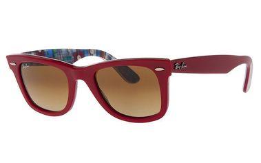 Dámské malinové plastové sluneční brýle Ray-Ban