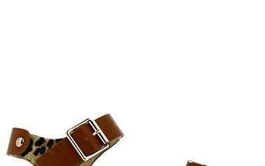 Dámské leopardí sandálky s cvočky Shoes and the City