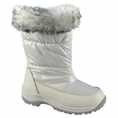 Dívčí bílé sněhovky Peddy TermoTex+ s kožešinkou