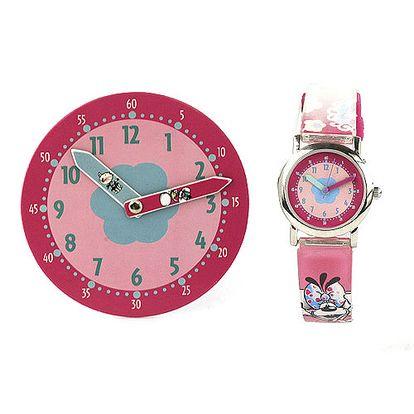 Trendy hodinky s motivem myšky Diddliny a kočičky Milimits v krásném balen