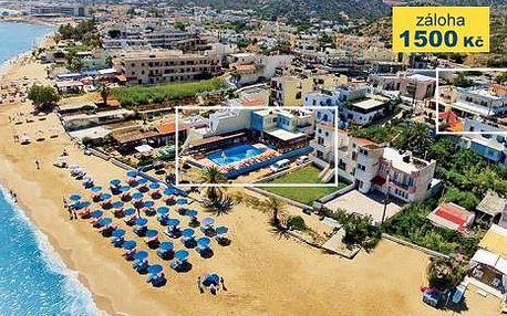 Řecko, oblast Kréta, letecky, polopenze, ubytování v 3* hotelu na 12 dní