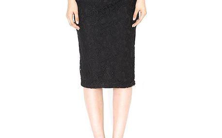 Dámská černá pouzdrová sukně s krajkou Santa Barbara