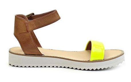 Dámské žluté sandálky na nízké platformě Timeless