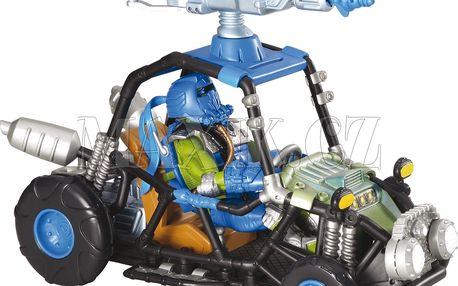 Želvy Ninja TMNT dopravní prostředek s figurkou - Sludge Runner Leonardo