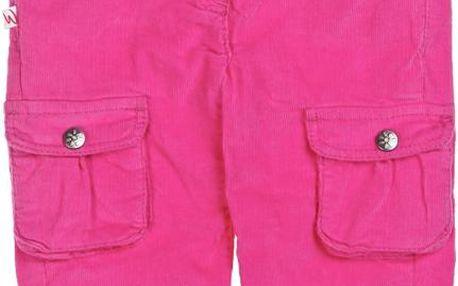 Růžové manšestráky s kapsičkami