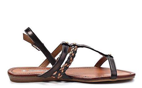 Dámské hnědo-černé sandály Timeless