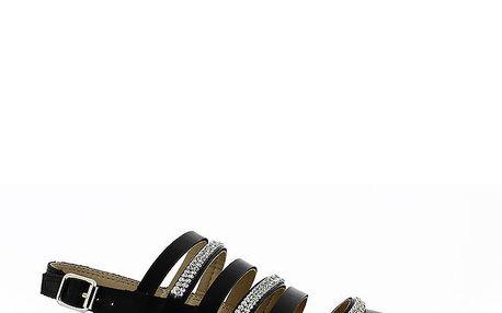 Dámské černé páskové sandálky Shoes and the City