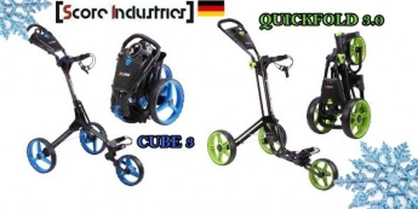 Nové superkompaktní německé golfové vozíky na českém trhu - Quickfold 3.0 jen za 3990 Kč nebo Cube 3 za 4599 Kč, objednávejte u Ježíška se slevou 30%, mnoho barevných kombinací
