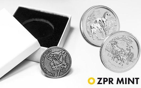 Stříbrná investiční mince nebo medaile