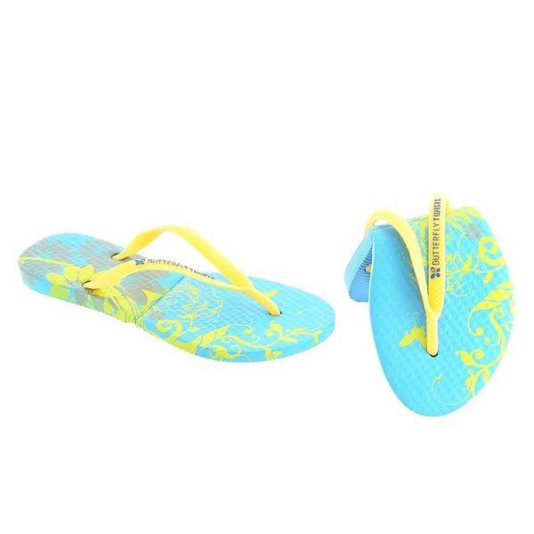 Dámské modro-žluté žabky Butterfly Twists (39/40)